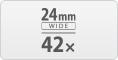 42x 24mm wide