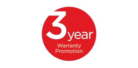 3 Year Warranty Promotion