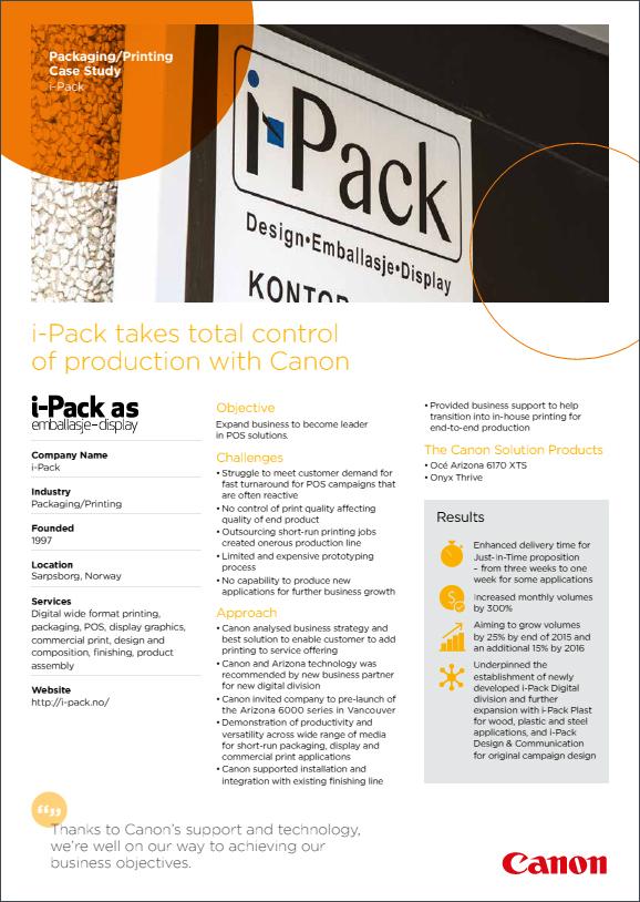 I-Pack Case Study - Canon UK